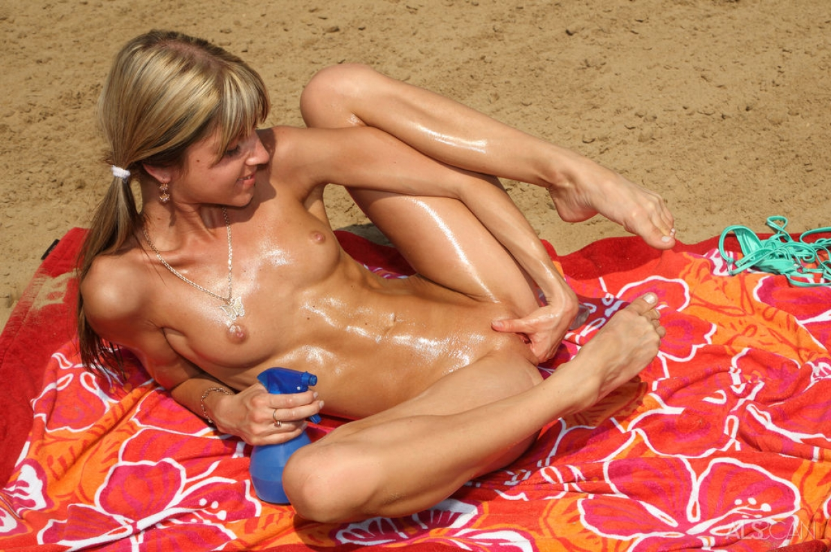 Kate with dildo