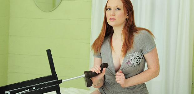 Lucy Ohara dildo machine